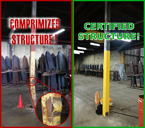 Damaged and Repaired Steel Column